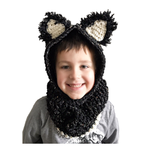 Cuddly Hooded Cat Cowl
