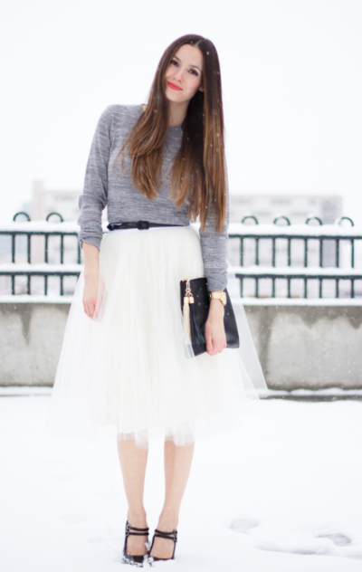 Tea Length Tulle Skirt Tutorial