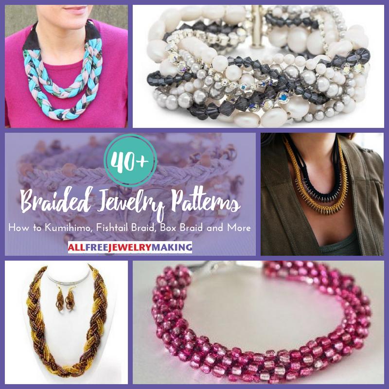 40 Braided Jewelry Patterns How To Kumihimo Fishtail Braid Box