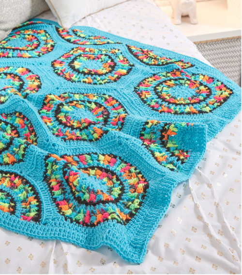 Retrospective Hexagon Crochet Afghan Pattern Favecrafts