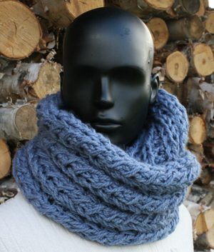 Faux Cable Infinity Scarf