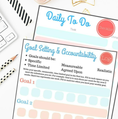 Free Goal Setting Worksheet Template | CheapThriftyLiving.com
