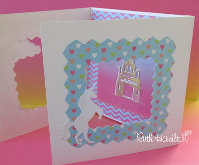 3 Fold Pretty Princess DIY Card