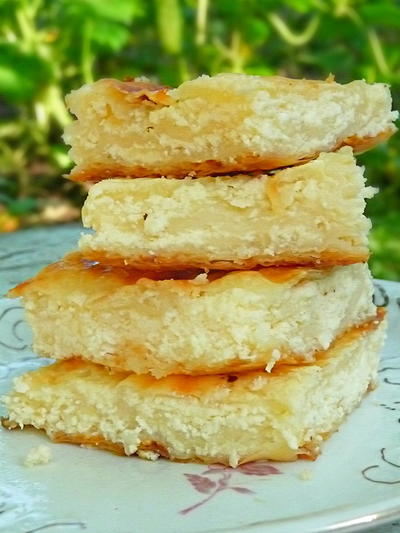 Cheese Pie Bars with Filo Pastry
