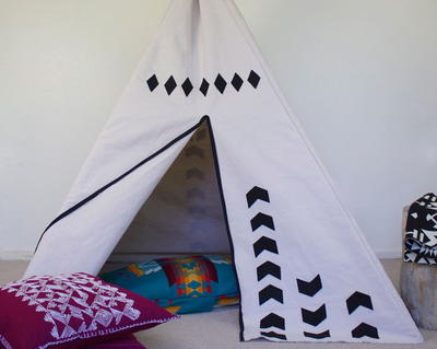 DIY Teepee Play Tent Pattern   AllFreeSewing.com