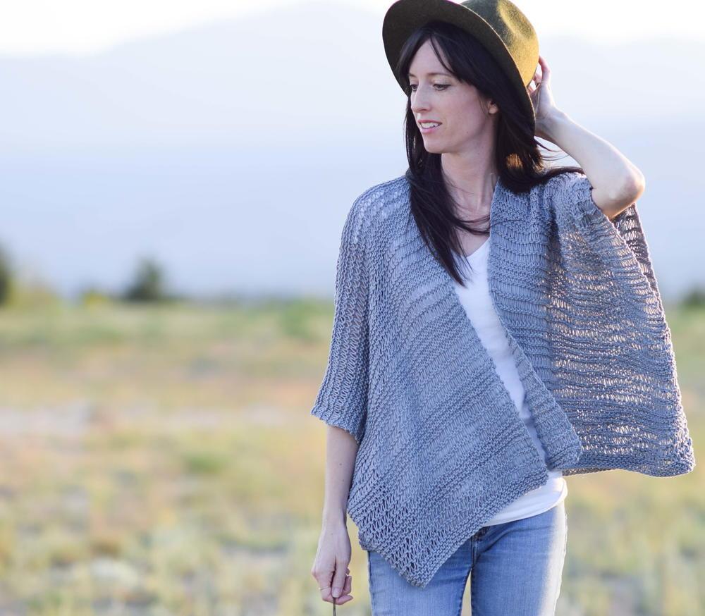 Drop Stitch Cotton Kimono Pattern