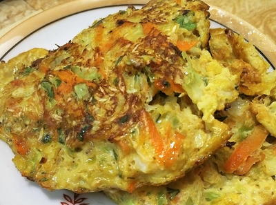 10 Min Low-Carb Savory Cabbage Pancakes Recipe