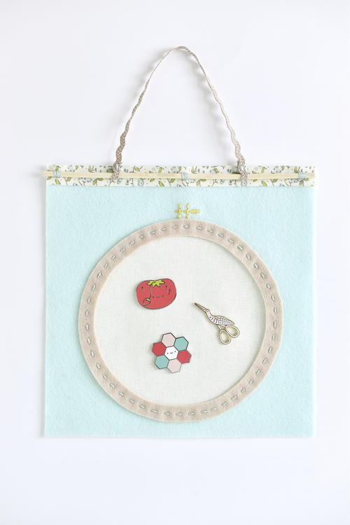 Embroidery Hoop DIY Needle Minder