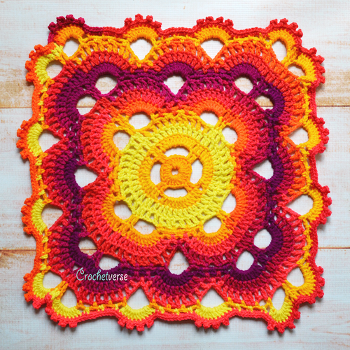 Modified Virus Crochet Blanket Pattern