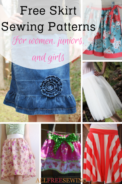 35 Free Skirt Sewing Patterns How to Make a Skirt Out of Jeans  More