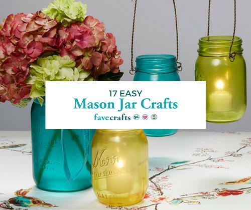 Easy Crafts with Mason Jars