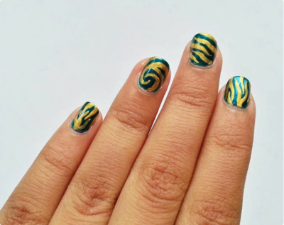 Zebra Print Nails Design Diyideacenter