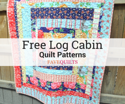 38 Free Log Cabin Quilt Patterns Favequilts Com