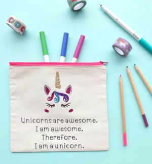 Glitter Unicorn Pencil Pouch Pattern