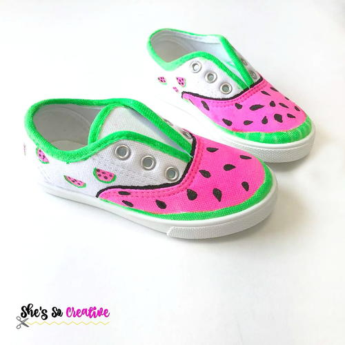 DIY Watermelon Canvas Shoes