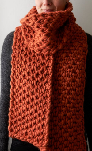 Lattice Brioche Scarf