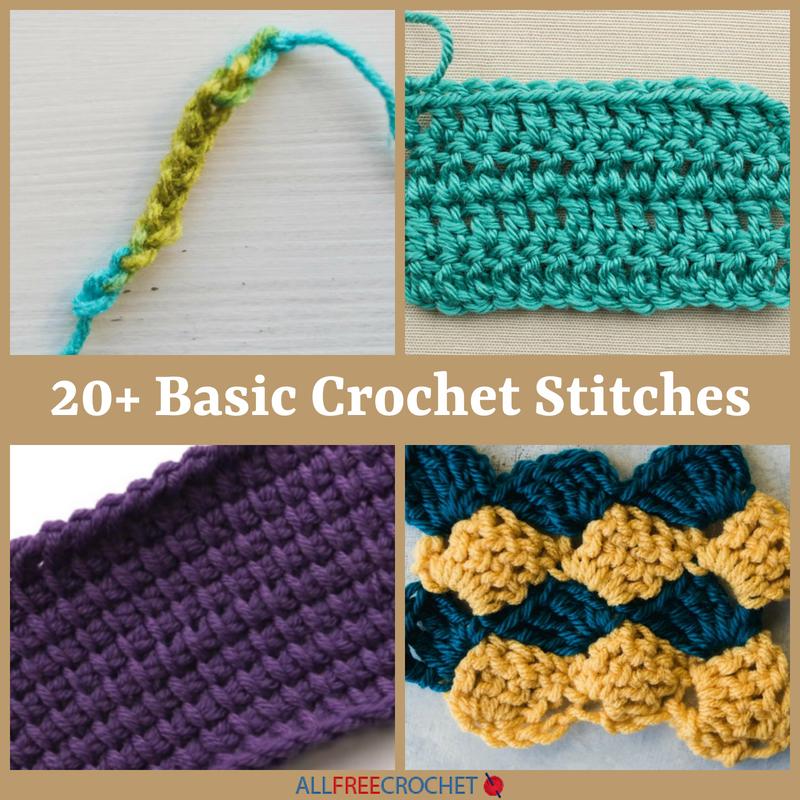 20 Basic Crochet Stitches Allfreecrochet