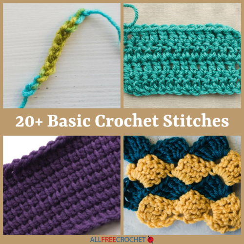 20 Basic Crochet Stitches Allfreecrochet