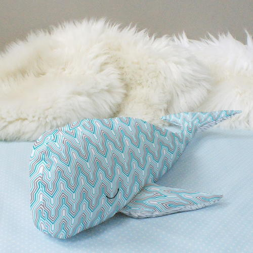 Wallace the Whale Plush Pattern | AllFreeSewing.com