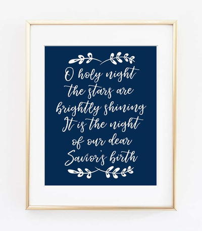 O Holy Night Free Printable
