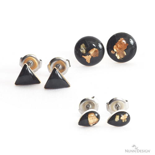 Gorgeous Gold Flake Resin Earrings
