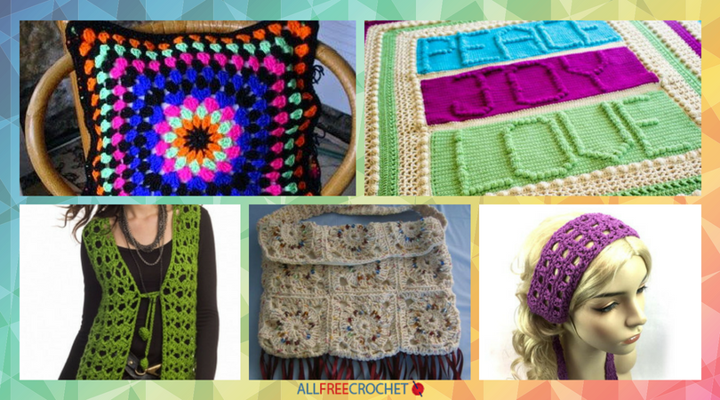 Get Groovy 29 Free Hippie Crochet Patterns Allfreecrochet
