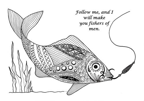 Fishers of Men Adult Coloring Page FaveCrafts