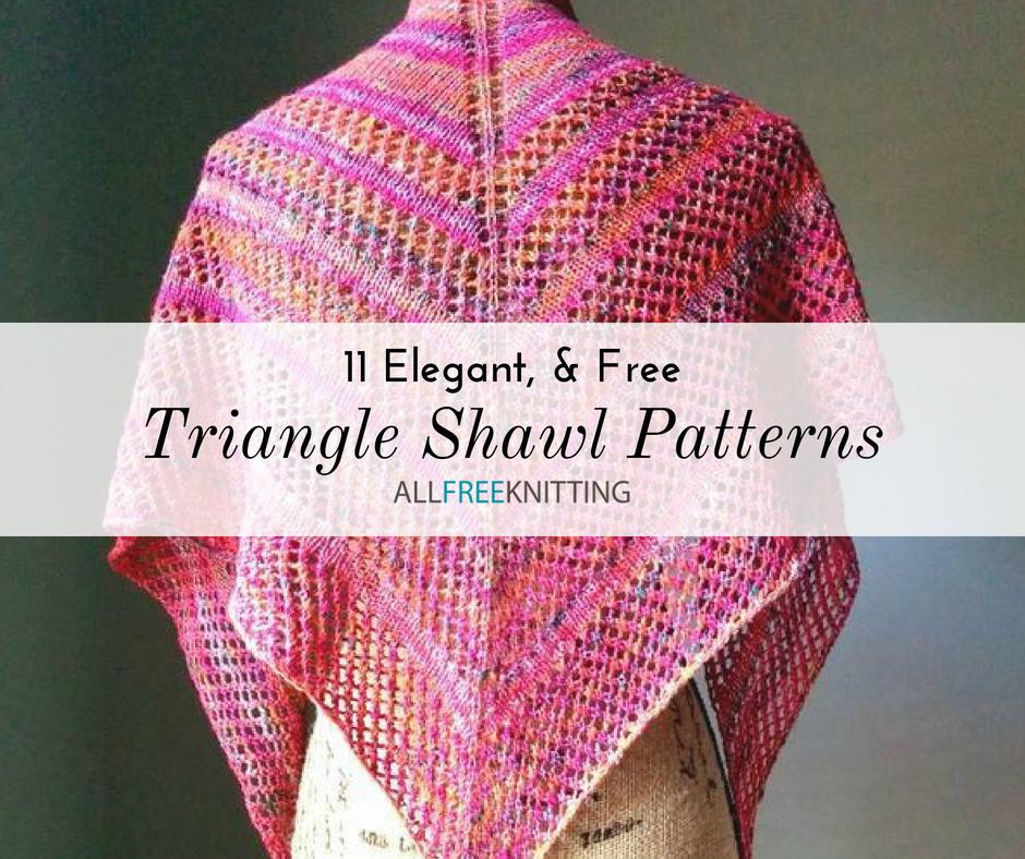 11 Triangle Shawl Knitting Patterns (Free) | AllFreeKnitting.com