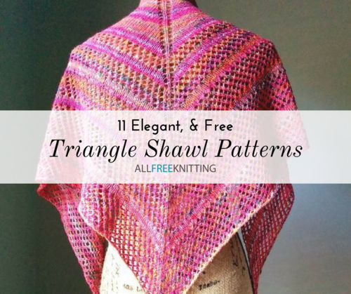 11 Triangle Shawl Knitting Patterns (Free) | AllFreeKnitting.com