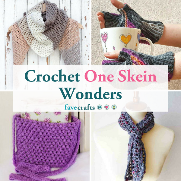 25 Crochet One Skein Wonders | FaveCrafts.com
