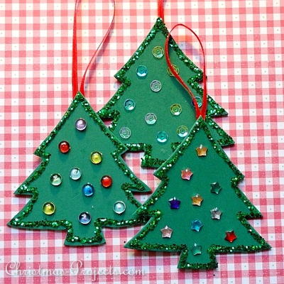 Fun Foam Christmas Tree Ornaments