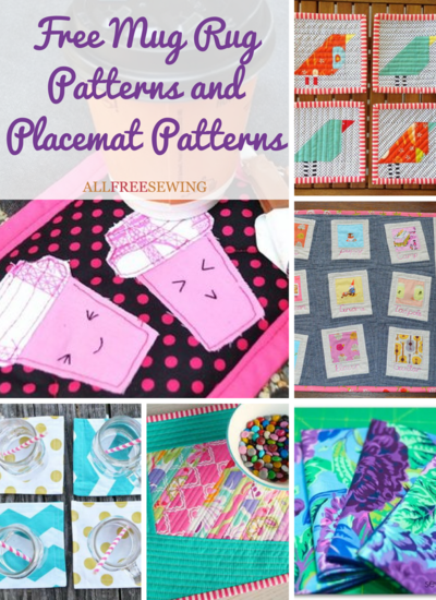 53 Free Mug Rug Patterns and Placemat Patterns | AllFreeSewing.com