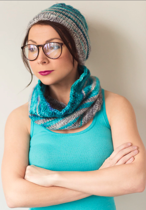 Snug and Striped Knit Cowl and Ear Warmer Pattern
