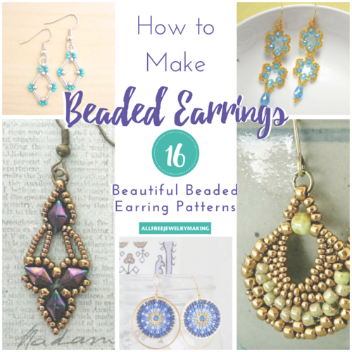Beautiful earrings from beads: weaving patterns