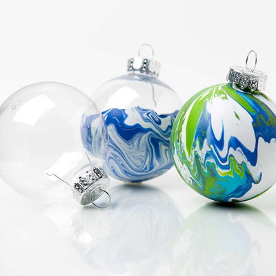 Melting Ice Marble Ornaments Tutorial