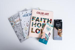 Leisure Arts Coloring Book and Utensils Giveaway