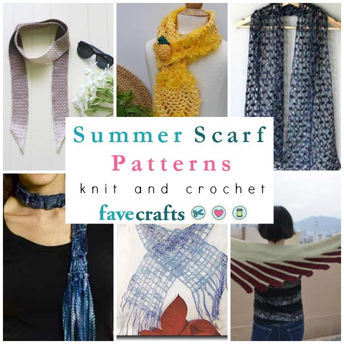 15 Summer Scarf Patterns Favecrafts