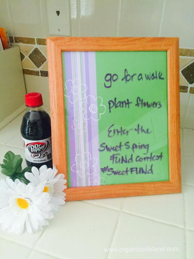 Easy DIY Spring Dry Erase Board
