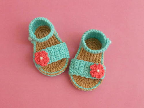 Easy Baby Gladiator Crochet Sandals Free Pattern Allfreecrochet