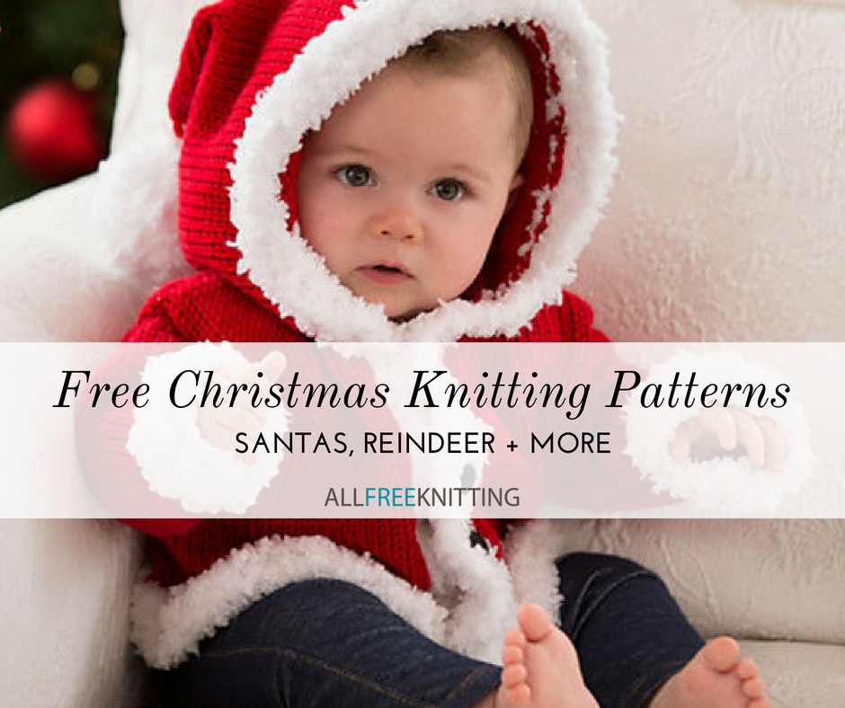 20 Free Christmas Knitting Patterns Santas Reindeer And More