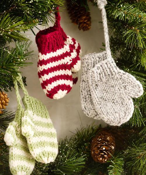 Knit Mittens As Ornaments Allfreeknitting