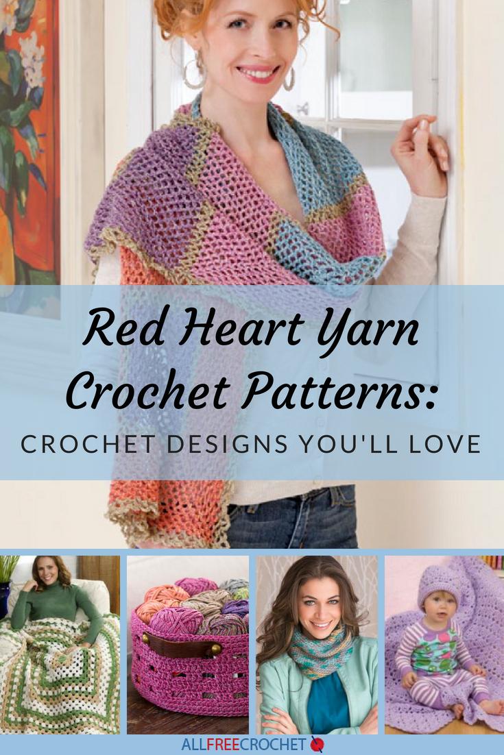 Red Heart Yarn Crochet Patterns: 19 Crochet Designs You\'ll Love ...