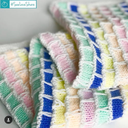 Brick and Mortar Baby Blanket