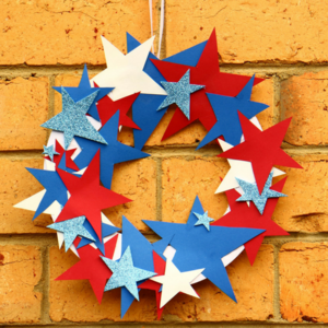 4th Of July Easy Crafts For Kids Paper Plate Wreath Favecrafts Com