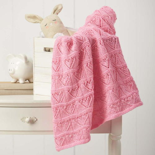Heartfelt Baby Blanket Knitting Pattern Allfreeknitting