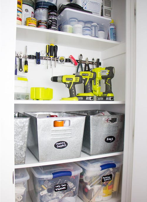 How to Organize Your Tool Closet