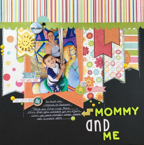 Mommy and Me Scrapbook Layout