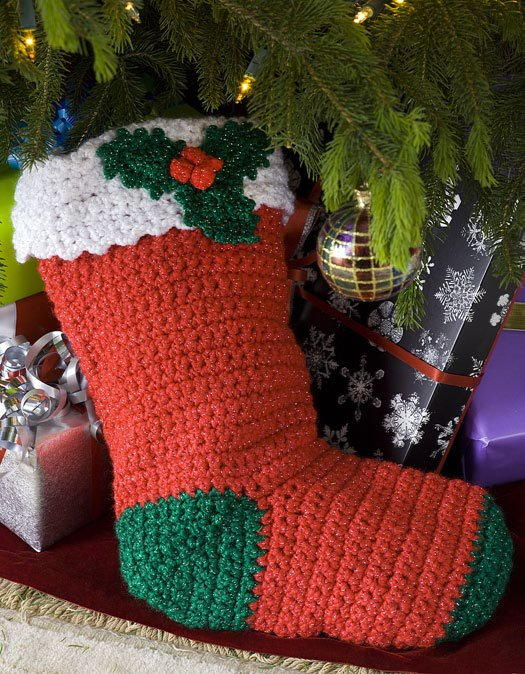 Holly Stocking Favecrafts