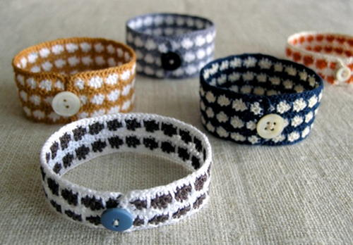 Colorful Crocheted Bracelets
