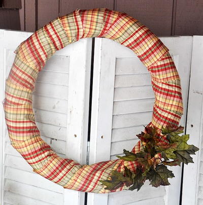 Fun and Thrifty DIY Fall Wreath